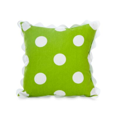 Glenna Jean Ellie & Stretch Rectangular Green Dot Pillow
