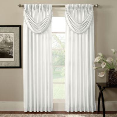 Argentina Pinch Pleat Panel Back Tab Interlined 84-Inch Window Curtain in Navy