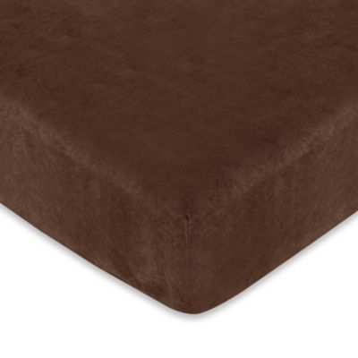 Sweet Jojo Designs All Star Sports Microsuede Fitted Crib Sheet in Chocolate