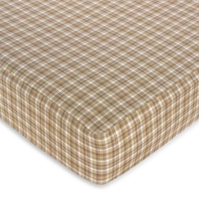 Sweet Jojo Designs All Star Sports Plaid Fitted Crib Sheet