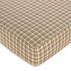 Sweet Jojo Designs All Star Sports Plaid Print Fitted Crib Sheet