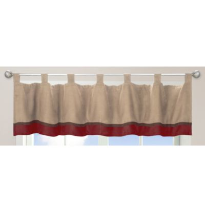 Brown Red Window Valance