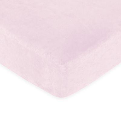 Sweet Jojo Designs Funky Zebra Pink Microsuede Fitted Crib Sheet
