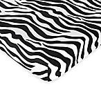 Sweet Jojo Designs Funky Zebra Microsuede Fitted Crib Sheet