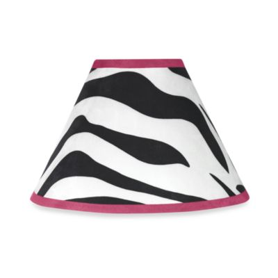 Sweet Jojo Designs Funky Zebra Lamp Shade in Pink