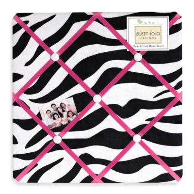 Sweet Jojo Designs Funky Zebra Pink Fabric Memo Board