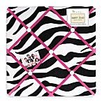 Sweet Jojo Designs Funky Zebra Fabric Memo Board in Pink