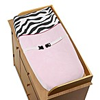 Sweet Jojo Designs Funky Zebra Pink Changing Pad Cover
