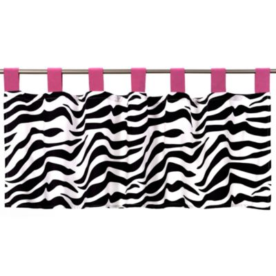 Sweet Jojo Designs Funky Zebra Pink Window Valance
