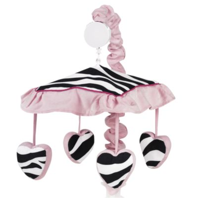 Sweet Jojo Designs Funky Zebra Pink Musical Mobile