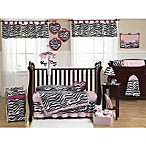 Sweet Jojo Designs Funky Zebra 11-Piece Crib Bedding Set in Pink