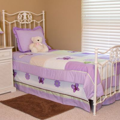 Pam Grace Creations Lavender Butterfly Twin Bedding Set