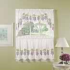 Air Brushed Grapes Window Curtain Tier Pair