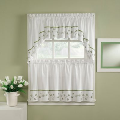 Clover 36-Inch Window Curtain Tiers