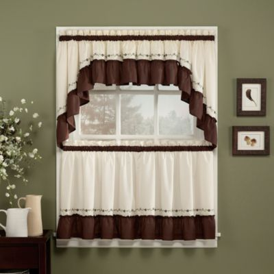 Jayden Window Curtain Swag Valance in Black