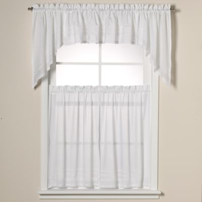 Crochet 24-Inch Window Curtain Tiers