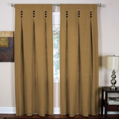 Murano Back Tab 84-Inch Window Curtain Panel in Gold