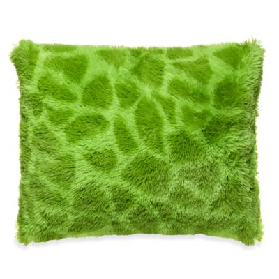 Giraffe Long Hair Faux Fur Toss Pillow