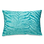 Blue Embossed Mink Toss Pillow