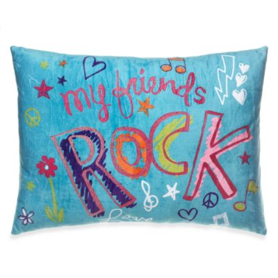 "BFF ""My Friends Rock"" Printed Toss Pillow"