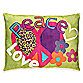 Peace and Love Toss Pillow