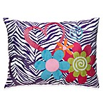 Zebra Love Toss Pillow