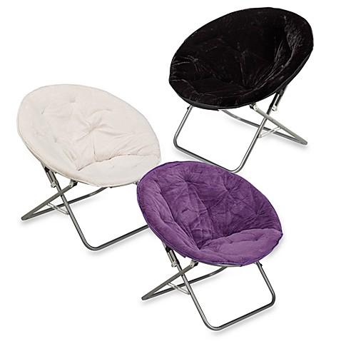 Rabbit Faux Fur Saucer Chair