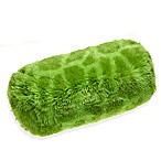 Idea Nuova Long-Hair Fur Bolster Pillow in Green