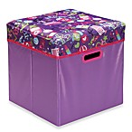 Collapsible Purple Peace Ottoman