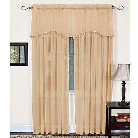 Mystic Sheer Rod Pocket Window Valance