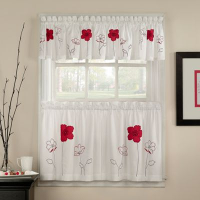 White Kitchen Curtain