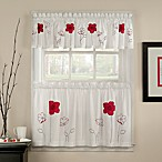 Poppy Garden 36-Inch Window Curtain Tier Pair