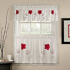 Poppy Garden Window Curtain Valance