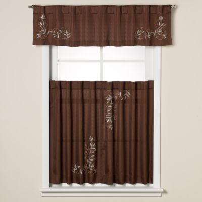 Brown Tier Curtains