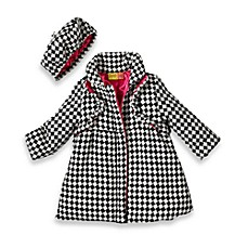 Babyfair Cutie Pie Ruffle Black & White Coat