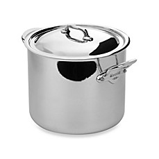 Mauviel M'cook 9.9-Quart Covered Magnetic Stainless Steel Stock Pot