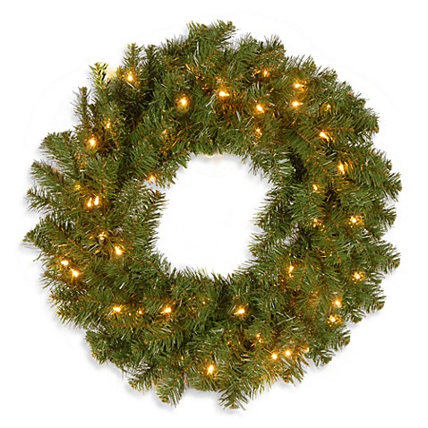 Kincaid Spruce 24-Inch Pre-Lit Wreath with 50 Clear Lights