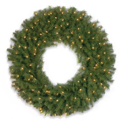 National Tree 3-Foot Norwood Fir Pre-Lit Wreath with Clear Lights