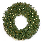 Norwood Fir 3-Foot Wreath Pre-Lit with 100 Clear Lights
