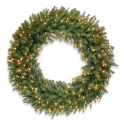 Norwood Fir 4-Foot Wreath Pre-Lit with 200 Clear Lights