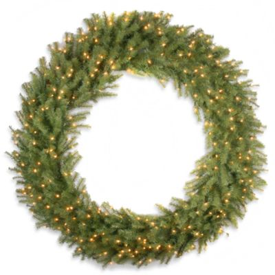 National Tree Norwood Fir 60-Inch Wreath Pre-Lit with 300 Clear Lights