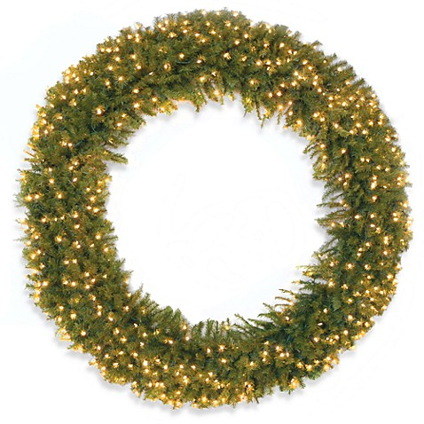 National Tree Norwood Fir 6-Foot Wreath Pre-lit with 450 Clear Lights