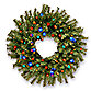 24-Inch Norwood Fir Wreath Pre-Lit with 50 Multicolored Lights