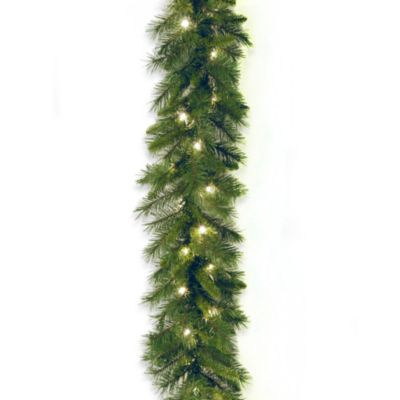 National Tree 9-Foot x 10-Inch Winchester Pine Garland Pre-Lit with 50 Clear Lights