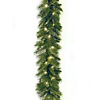 9-Foot x 10-Inch Winchester Pine Garland Pre-Lit with 50 Clear Lights