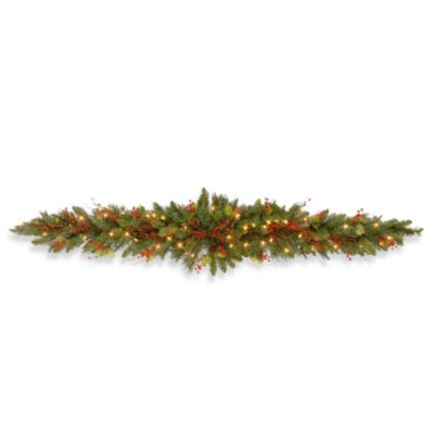 6-Foot Classical Collection Mantel Swag Pre-Lit with 50 Clear Lights