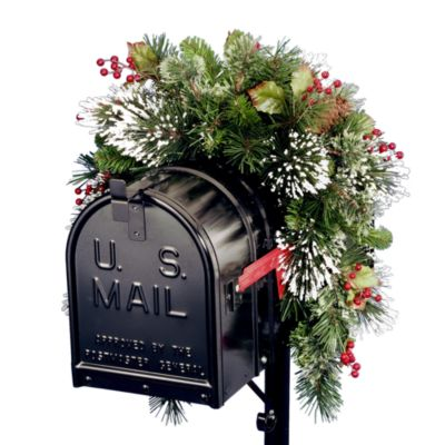 National Tree 3-Foot Wintry Pine Collection Mailbox Swag