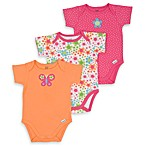 Lamaze 3-Pack Orange Butterfly Bodysuits