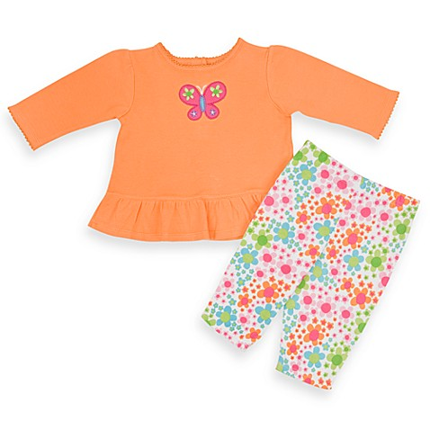 Lamaze 2-Piece Orange Floral Pant Set