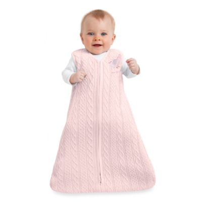 Halo SleepSack Cable Knit Wearable Blanket in Pink